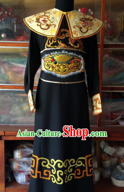 Chinese Beijing Opera Takefu Black Clothing Traditional Peking Opera General Costume for Men
