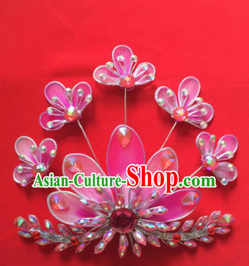 Chinese Beijing Opera Princess Hair Claw Hairpins Traditional Peking Opera Diva Hair Accessories for Women