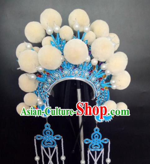Chinese Beijing Opera Princess Phoenix Coronet Traditional Peking Opera Diva Hat Hair Accessories for Women