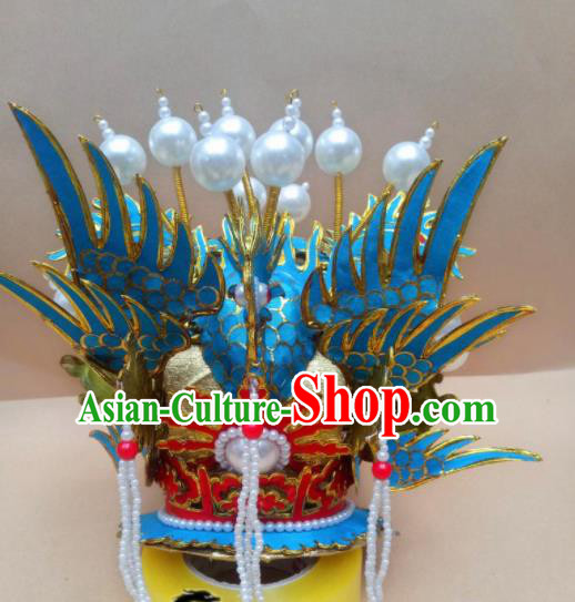 Chinese Beijing Opera Prince Hairdo Crown Traditional Peking Opera Niche Hair Accessories for Men