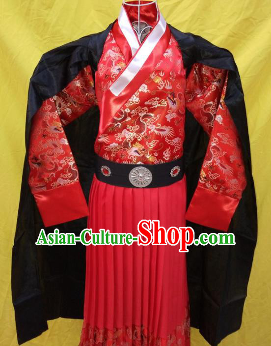 Chinese Ancient Swordsman Clothing Traditional Ming Dynasty Imperial Bodyguard Costume for Men
