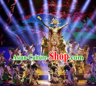 Chinese The Romantic Show of Sanya Stage Performance Dance Costume for Men