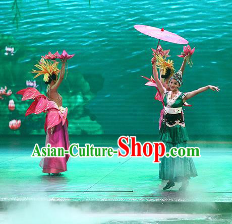 Chinese The Romantic Show of Songcheng West Lake Legend Dance Dress Stage Performance Costume for Women
