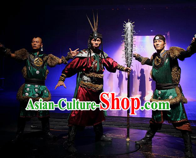 Chinese The Romantic Show of Songcheng General Stage Performance Dance Costume for Men