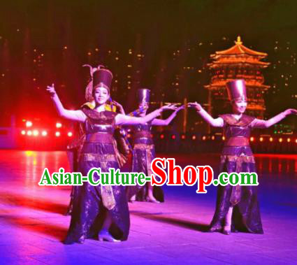 Chinese The Dream of Tang Dynasty Dance Dress Stage Performance Costume for Women