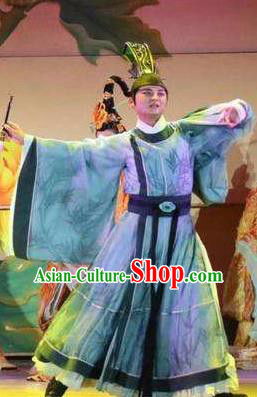 Chinese The Dream of Dongjing Song Dynasty Minister Stage Performance Dance Costume for Men