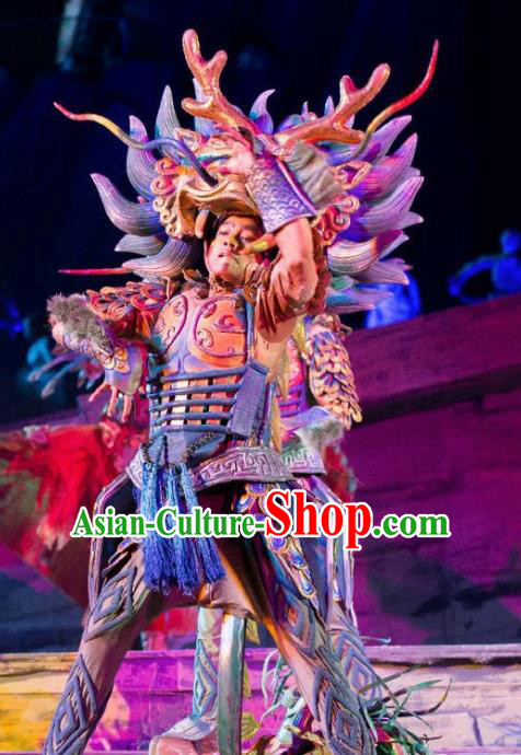 Chinese Chang E The Goddess of The Moon Stage Performance Dance Costume for Men