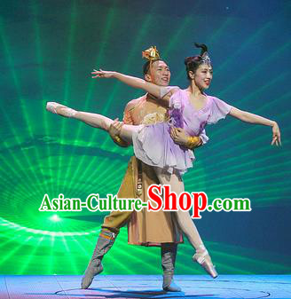 Chinese The Romantic Show of Mingyue Stage Show Classical Dance Costumes for Women for Men