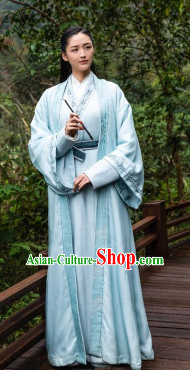 Ancient Chinese Drama Taoist Nun Yu Lian Dress Ever Night Traditional Tang Dynasty Female Swordsman Costumes for Women