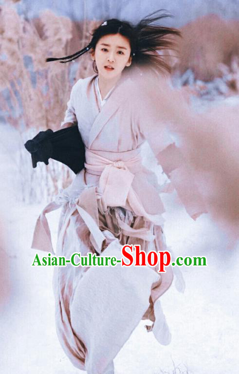 Ancient Chinese Drama Ever Night Maidservant Sang Sang Dress Traditional Tang Dynasty Female Swordsman Costumes for Women