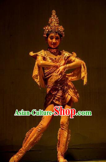 Chinese Dharma Legends in Famen Temple Ancient Classical Dance Dress Stage Performance Costume and Headpiece for Women