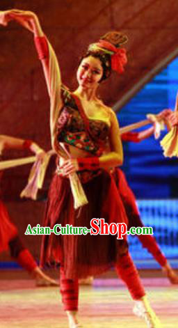 Chinese Back to Song Dynasty Classical Dance Dress Stage Performance Costume for Women