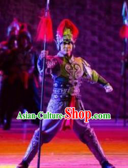 Chinese Back to Song Dynasty General Armor Stage Performance Dance Costume for Men