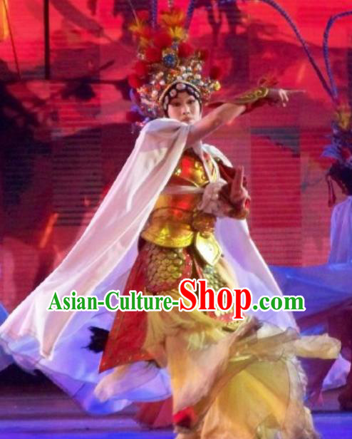 Chinese Back to Song Dynasty Peking Opera Female General Armor Stage Performance Costume for Women