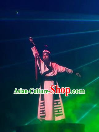 Chinese Magic Ganpo Longhu Mountain Taoist Zhang Stage Performance Dance Costume for Men