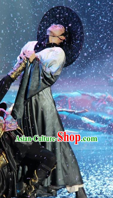 Chinese Magic Ganpo Longhu Mountain Taoist Swordsman Stage Performance Dance Costume for Men
