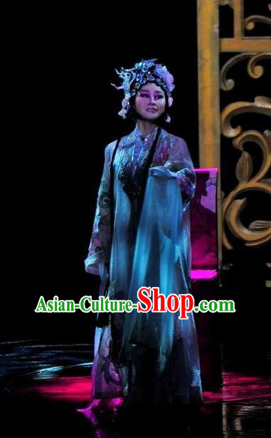 Chinese Magic Ganpo Impression Peking Opera Diva Dance Dress Stage Performance Costume and Headpiece for Women