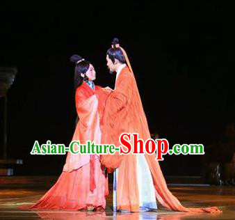 Chinese The Legend of Zhugeliang Three Kingdoms Period Wedding Stage Performance Dance Costumes for Women for Men