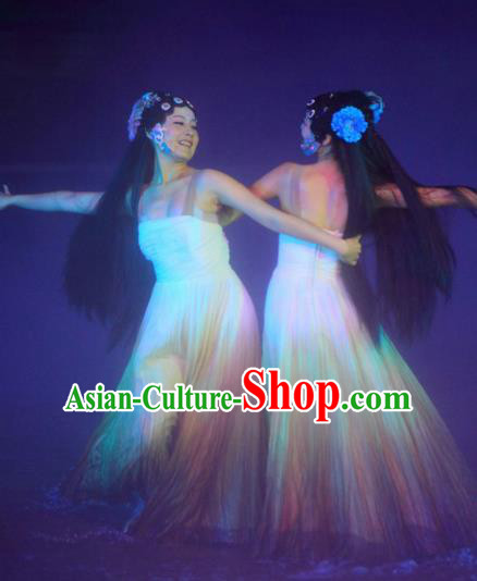 Chinese The Legend of Zhugeliang Dance Dress Stage Performance Costume for Women
