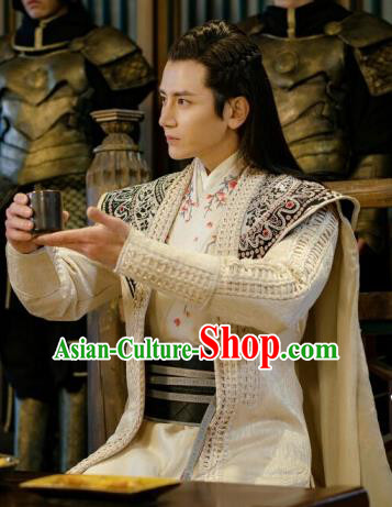 Drama Ever Night Chinese Ancient Crown Prince Longqing Hanfu Clothing Traditional Tang Dynasty Swordsman Costumes for Men