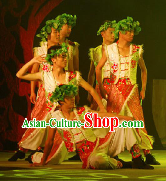 Chinese Hui Nationality Wedding Ethnic Dance Clothing Stage Performance Costume for Men