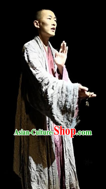 Chinese Encore Dunhuang Tang Dynasty Monk Clothing Stage Performance Dance Costume for Men