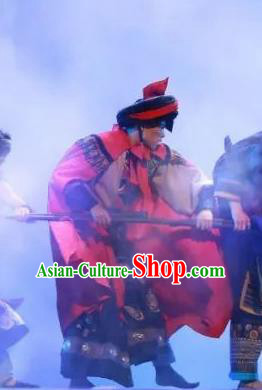 Chinese Jin Show Dan Zhai Miao Nationality Dance Clothing Stage Performance Costume for Men