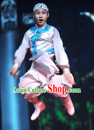 Chinese Picturesque Huizhou Ancient Qing Dynasty Clothing Stage Performance Dance Costume for Men