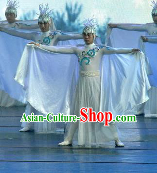 Chinese Picturesque Huizhou Dance Clothing Stage Performance Costume for Men