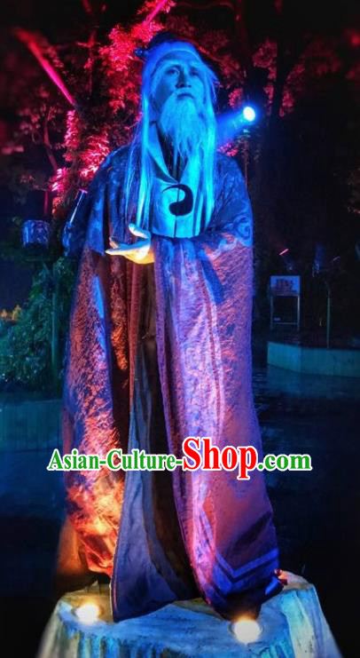 Chinese Dream Of Tao Ancient Taoist Priest Clothing Stage Performance Dance Costume for Men