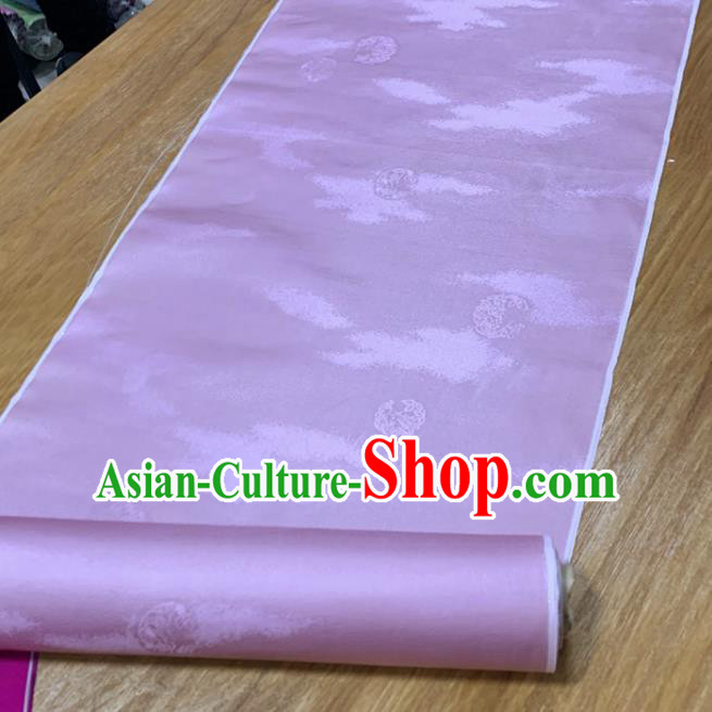 Chinese Classical Pattern Pink Silk Fabric Traditional Ancient Hanfu Dress Brocade Cloth
