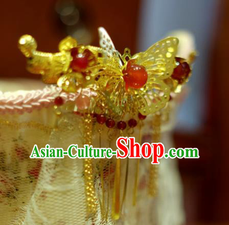 Chinese Traditional Ancient Court Queen Butterfly Hairpins Classical Hanfu Hair Accessories for Women