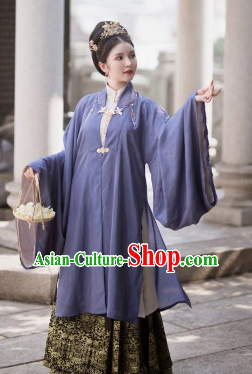Traditional Chinese Ming Dynasty Imperial Consort Replica Costumes Ancient Royal Queen Hanfu Dress for Women