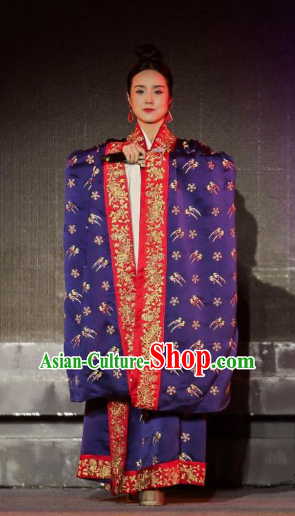 The Book of Songs Mu Gua Traditional Chinese Classical Dance Queen Dress Stage Show Costume for Women