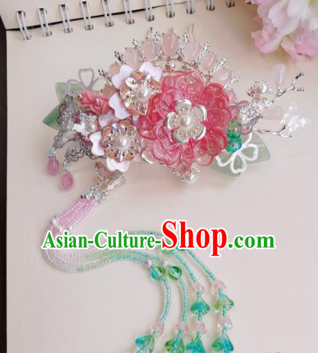 Traditional Chinese Classical Flower Hair Comb Hairpins Ancient Hanfu Hair Accessories for Women
