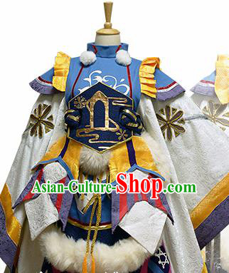 Traditional Japanese Cosplay Female Swordsman Dress Ancient Heroine Costume for Women