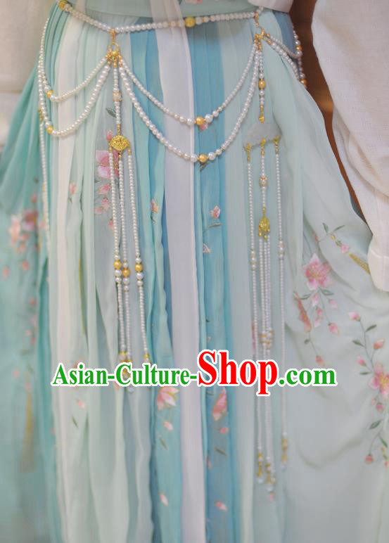 Traditional Chinese Hanfu Tassel Belts Ancient Princess Waist Accessories for Women