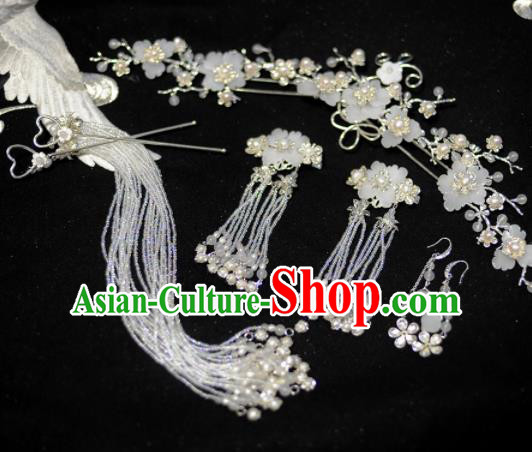 Traditional Chinese Classical Flowers Hair Comb Hairpins Ancient Princess Hanfu Hair Accessories for Women