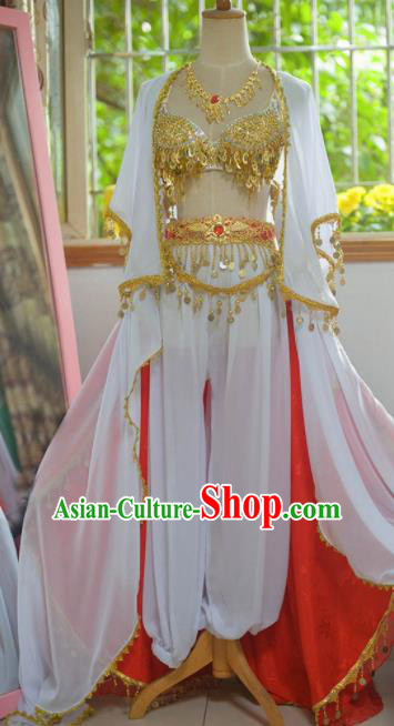 Chinese Classical Dance Flying Apsaras Dress Ancient Female Swordsman Heroine Costume for Women