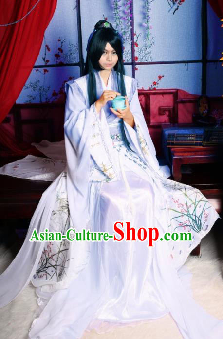 Traditional Chinese Cosplay Swordsman Clothing Ancient Prince Nobility Childe Costume for Men