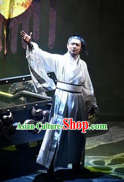 Chinese Drama Shang Yang Swordsman Clothing Stage Performance Dance Costume for Men