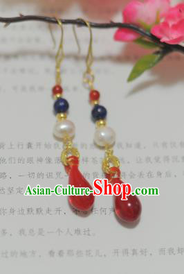 Traditional Chinese Hanfu Earrings Ancient Princess Ear Jewelry Accessories for Women
