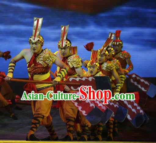 Chinese Drama Dragon Boat Festival Competition Dance Clothing Stage Performance Dance Costume for Men
