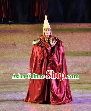 Chinese Tamrac Heaven Zang Nationality Vajrayana Monk Lama Clothing Stage Performance Dance Costume for Men