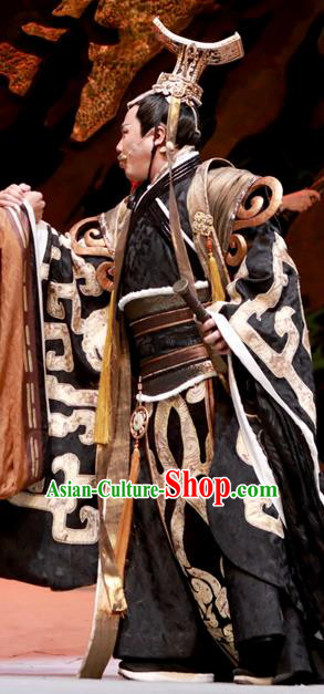 Chinese Drama Yuan Qu Ancient King Chu Huai Clothing Stage Performance Dance Costume for Men