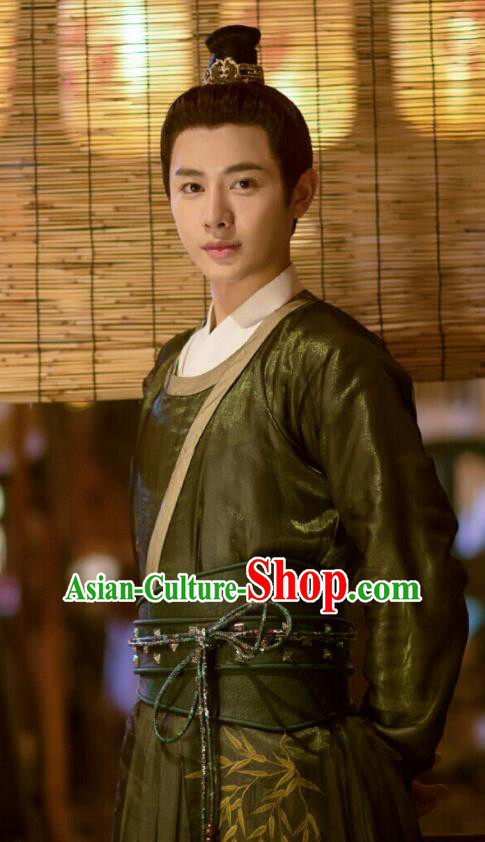 Ancient Chinese Song Dynasty Scholar Wang Kuan Hanfu Clothing Drama Young Blood Swordsman Costumes for Men