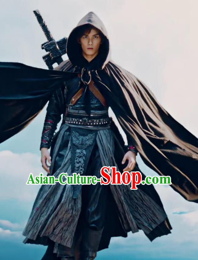 Drama Fights Break Sphere Ancient Chinese Young Swordsman Xiao Yan Hanfu Costumes for Men