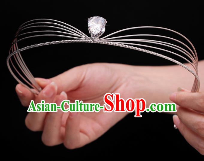 Top Grade Bride Hair Clasp Royal Crown Handmade Wedding Hair Accessories for Women