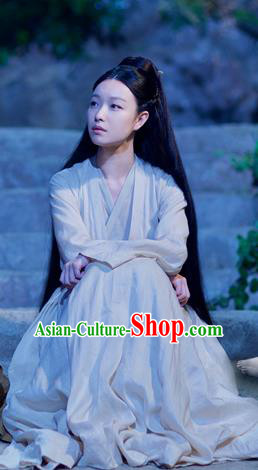 Chinese Ancient Goddess Hanfu Dress Drama Love and Destiny Female Swordsman Ling Xi NiNi Costumes for Women