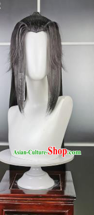 Traditional Chinese Cosplay Swordsman Wigs Sheath Ancient Young Kawaler Chignon for Men